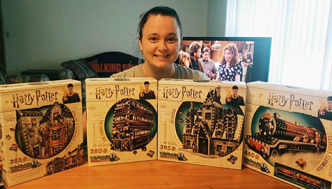 Put together my 3D Harry Potter puzzles  #HarryPotter @jk_rowlingpic.twitter.com/d5ialNuQx6