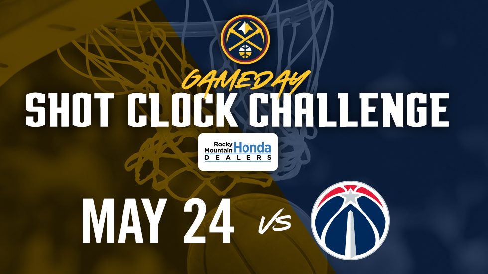 You can spend your Sunday helping us win our third-consecutive game in the Shot Clock Challenge as we take on the @WashWizards!   Simply download our app to play throughout the day!  #MileHighBasketball https://t.co/bVdfSbgGEY