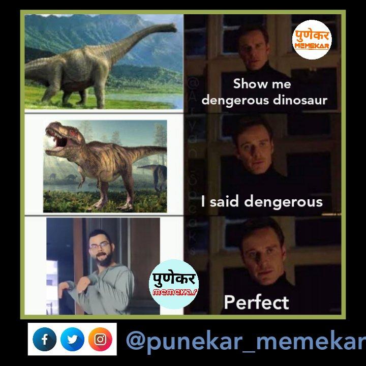 #ViratKohli #AnushkaSharma #dinosaur     #punekarmemekar #Memes #memesdaily #marathi #marathimeme #troll #pune #mumbai #nashik #StayHome #Maharashtra #delhi #viralvideo #facebook #ViralVideos #dinosaurememe #funnymeme #smile #TwitterMemes #TwitterTrendspic.twitter.com/PJyUNxJZCi