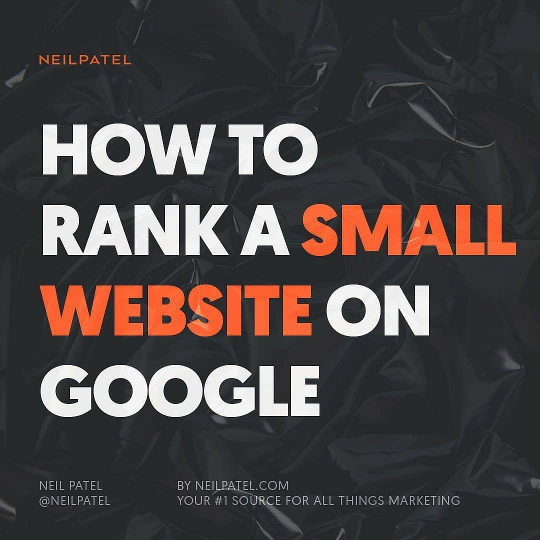 """Check out the post on """"How to Rank a Small Website on Google""""?  https://t.co/ZvvNqsZI65  #googleranking #Google #marketing @neilpatel #DigitalTransformation #DigitalIndia #Tips https://t.co/MyuDlUXIME"""