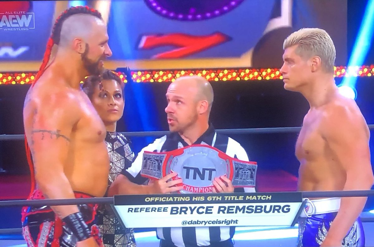 An honor and a privilege to be a part of crowning the first ever @AEWonTNT Champion. #AEWDoN<br>http://pic.twitter.com/QHvf6NnKlY