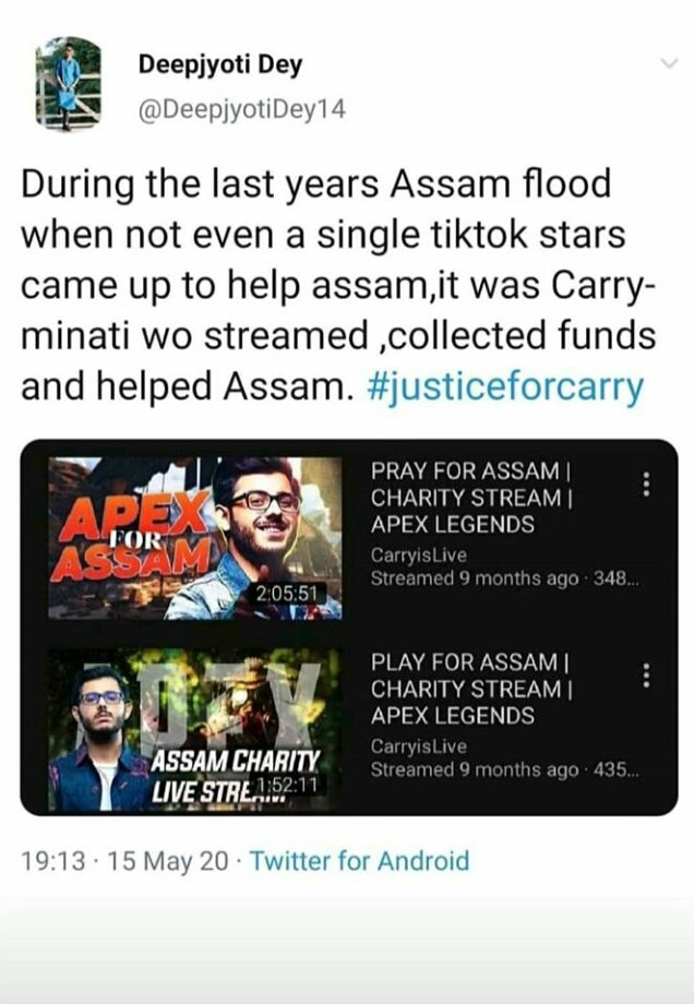 If some idiots says,that this guy only knows to say slangs and nothing else...then show them this....#carryminati #justiceforcarry #bringbackcarrysvideo #bringbackcarryminativideo #bringcarryminativideoback #bringcarryvideoback #shameonyoutube #indiansagainsttiktok #bantiktokpic.twitter.com/yHXMwOAwhm