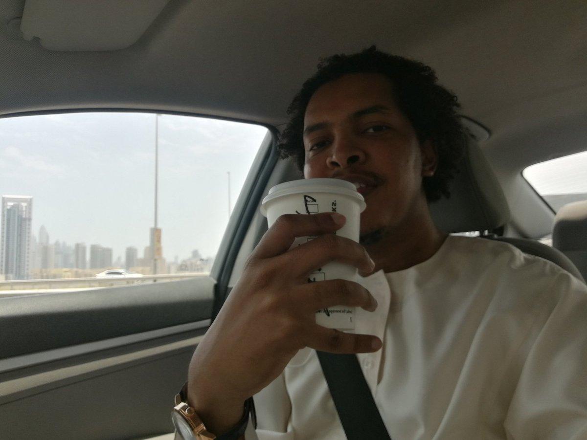 1st time Jalabiya  Obligatory post-Ramadan Starbucks trip  Mask & gloves selfie with Danny   #Eid Haircut  Mini road trip  (Thank you, surprise #Dubai storm!)  #EidMubarak everyone pic.twitter.com/jZVXxXwrok