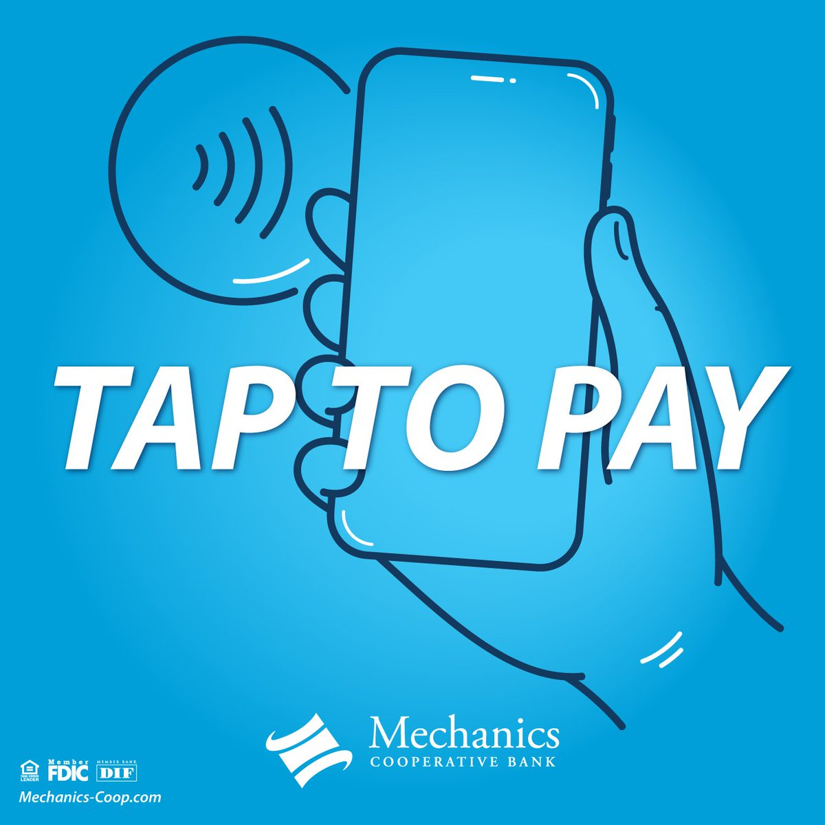 The contactless way to pay - With Apple Pay, Google Pay & Samsung Pay! Available for your Mechanics Cooperative Bank #DebitCard. For more info: https://mechanics-coop.com/personal/digital-wallets/…pic.twitter.com/xa7IbPnT3I