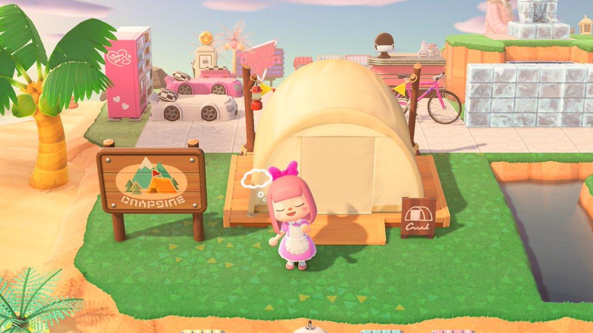 看板 場 の キャンプ あつ 森