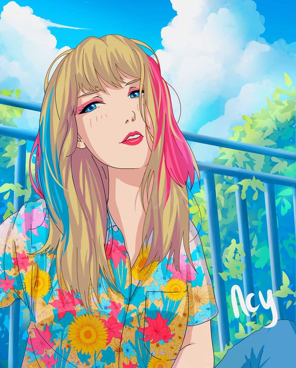 Somebody made anime version of Taylor Swift  <br>http://pic.twitter.com/MnP9v8TKTz