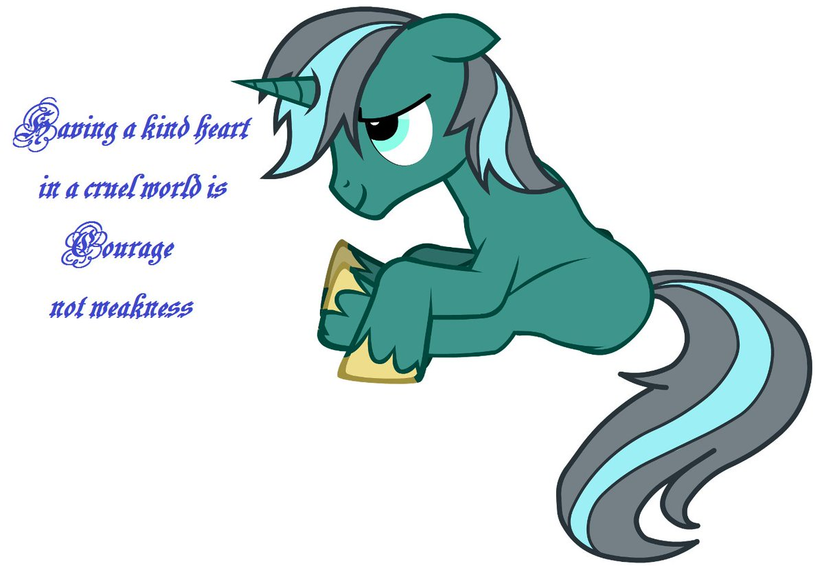 Having a kind heart in a cruel world is courage, not weakness - #MLPFiM #kindness<br>http://pic.twitter.com/wXeLUr0n72