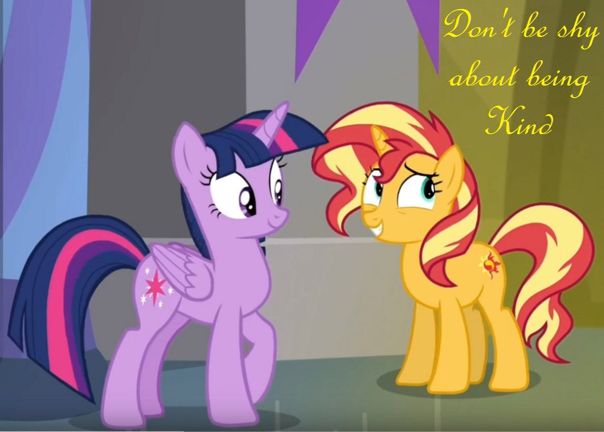 Don't be shy about being kind - Sunset Shimmer #MLPFiM #kindness<br>http://pic.twitter.com/t8aewI6GtQ
