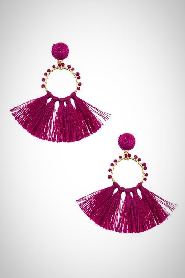 Beaded Ring Tassel Fan Earring #fashiondesign #fashionblog $14.50 ➤ https://tinyurl.com/vq6vqvvpic.twitter.com/QJOx6ITR8Y