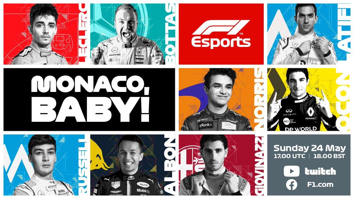 #F1 Virtual GP race at Monaco today! #NL6  ⏱ 1PM EST (6PM UK 🇬🇧) 🖥 Watch here https://t.co/lqXm21eLKZ https://t.co/gKnKdseeyB