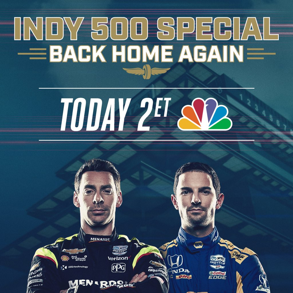 Missing the great fans and atmosphere @IMS today after our first Indy500 last year. Hope you can join us Sunday at 2 pm ET @NBCSports as we relive that race with great new content pre-race and with @SimonPagenaud and @AlexanderRossi. #500AtHome bit.ly/3ec1Fx2