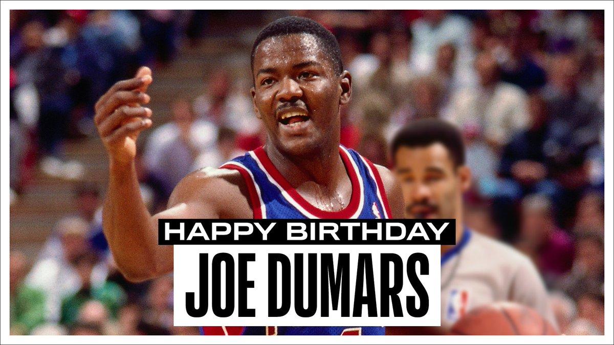 Join us in wishing a Happy 57th Birthday to 6x #NBAAllStar, 2x NBA champion, 1989 NBA Finals MVP and @Hoophall inductee, Joe Dumars! #NBABDAY https://t.co/U5pPk1rBuu