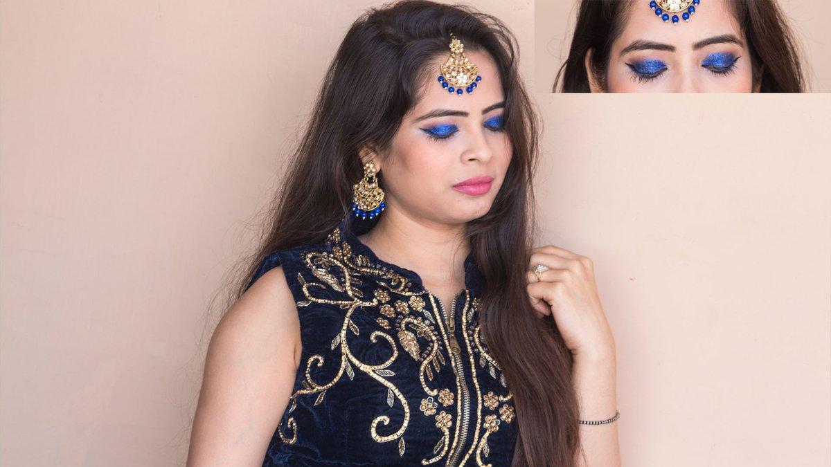 Blue Smoky Eyes with Pink Lips - Makeup Tutorial || Sonali Saxena || #SonaliSaxena #BlueMakeup #MakeupTutorial #GlowingMakeup #PartyMakeup #BlueEyes https://youtu.be/Vo6N9rLMXo0pic.twitter.com/rAnJBknuSW