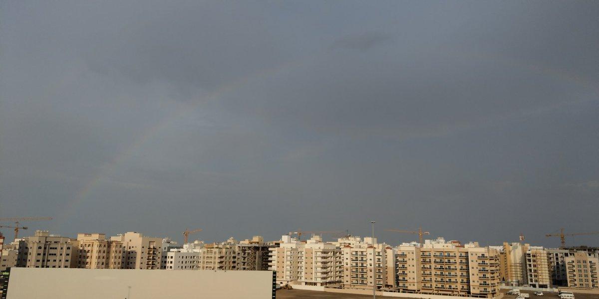 Rainbow seen after this heavy rain in #Dubai  pic.twitter.com/hHaFoP8WAF