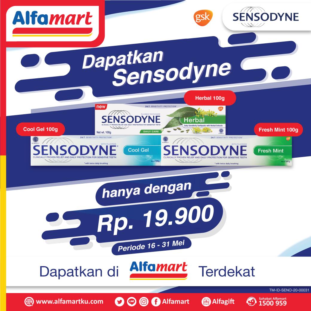 Dapatkan HARGA SPESIAL hanya Rp 19.900 untuk produk Sensodyne pilihanmu berikut ini di #Alfamart terdekat . Sambut hari nan Fitri dengan gigi bebas ngilu dan nafas yang segar . . Periode s.d 31 Mei 2020 #AlfamartMelayaniIndonesia #AlfamartTerdekatAja #RamadhandiRumahAjapic.twitter.com/OrT88KnSvc