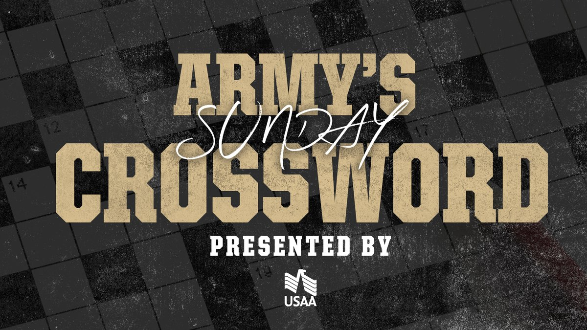 Good Sunday Morning! In honor of this weekend we have a Memorial Day weekend themed Crossword Challenge, presented by @USAA. 👉 crosswordhobbyist.com/805972 #GoArmy