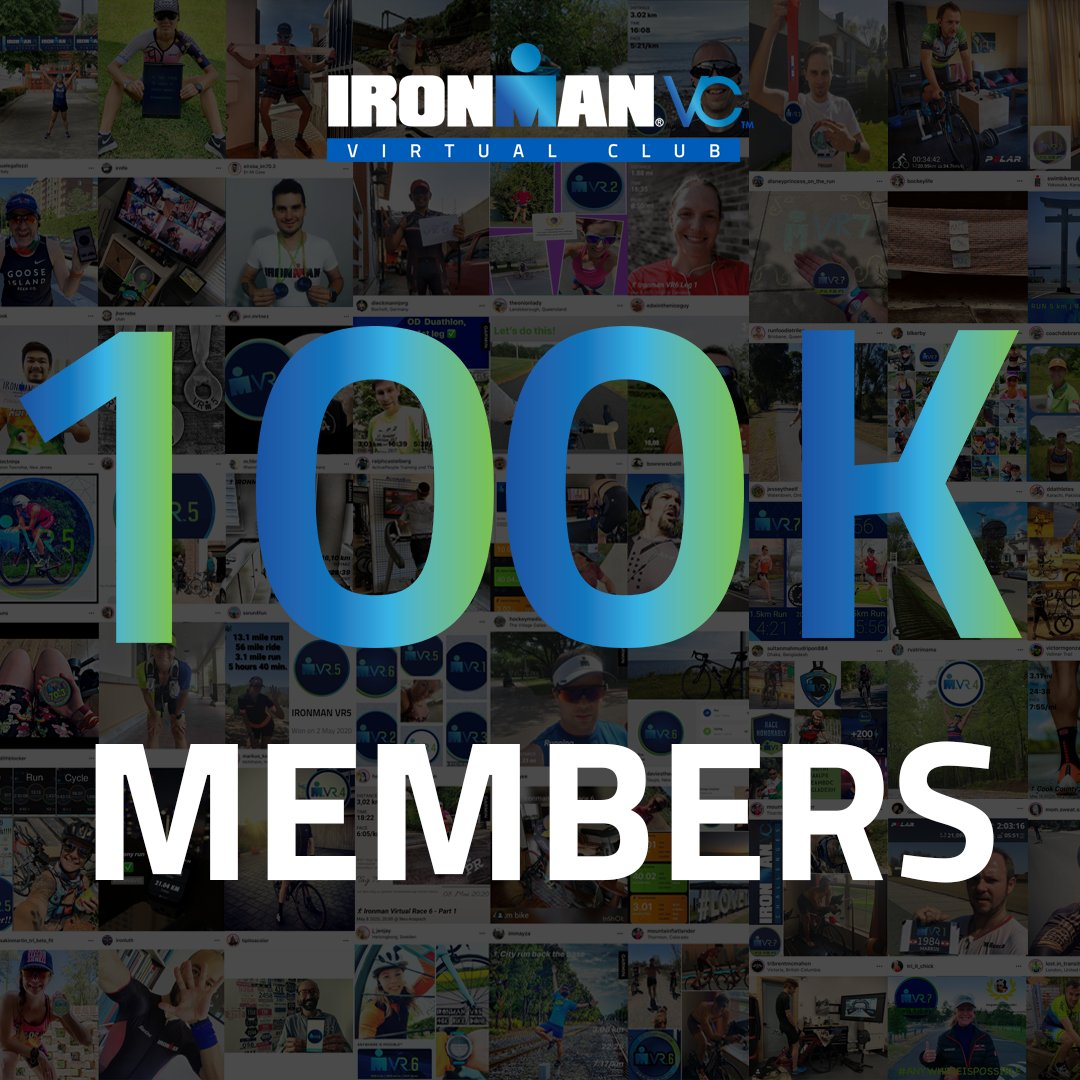 🎉 1️⃣0️⃣0️⃣,0️⃣0️⃣0️⃣ 🎉 Thank you to the 100,000 athletes from around the world who have joined IRONMAN Virtual Club! If you havent signed up yet, get in on the fun! ironmanvirtualclub.com #AnywhereIsPossible