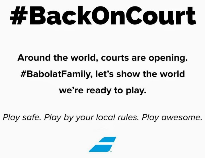 Hope everyone is having a good time #BackOnCourt in the #BabolatFamily !!! 🎾🎯🚗✈ (Strike, Drive, Aero...see what I did there 😉) https://t.co/n5kRl1GsJO