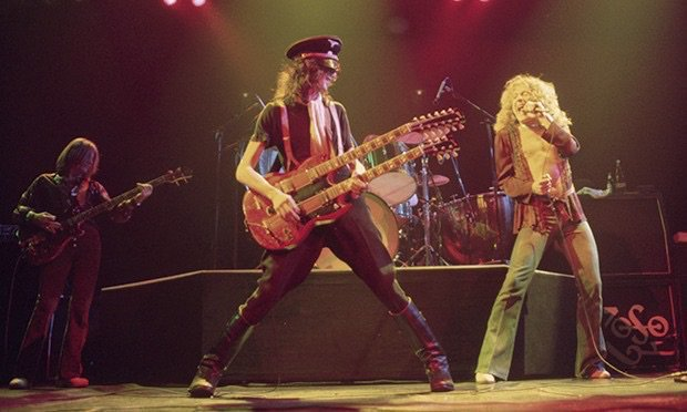 Led Zeppelin on stage, 1975.  Neal Preston.pic.twitter.com/2X9WYi9oIC