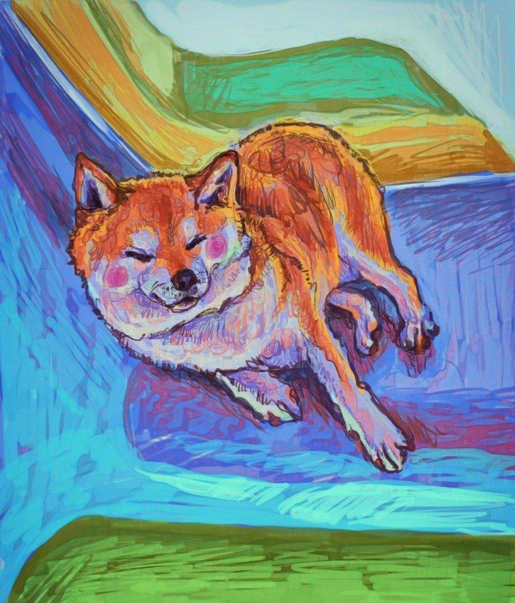 『A Calming Shade Of Blue』 #drawing #ドローイング #犬好きと繋がりたい #柴犬 pic.twitter.com/wurAAzrUyU