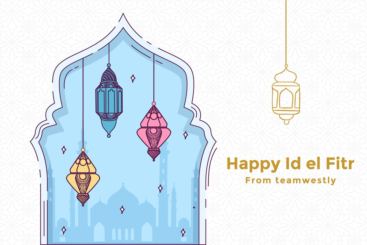 Happy Eid Mubarak to all the Muslims out there Happy Id el fitr to all the Muslims #team_westly #idulfitri #idulfitri1440h #idelfitr2020 #EidUlFitr #صور_كيف_كان_عيدك_ببيتك