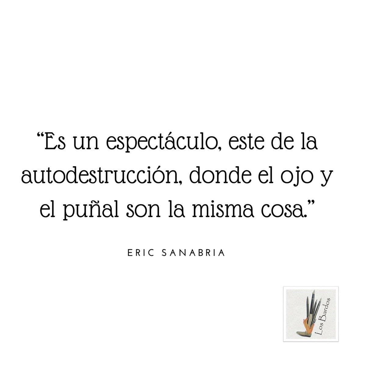 Eric Sanabria ahonda en las raíces de la conciencia. #Ericsanabria #autodestrucción #losbardos #versos #poesia #losbardospoesiapic.twitter.com/xsxv6yyPGt
