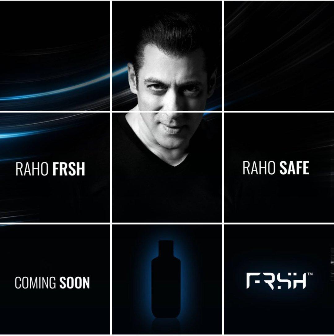 Aa gaya bhai ka new brand #FRSH . #RahoFrsh #RahoSafe #SalmanKhan @BeingSalmanKhan