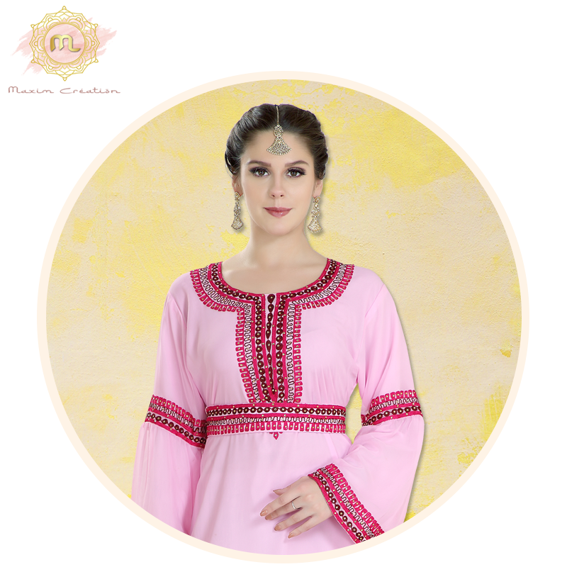 Simple, chic, and elegant!  Head over to our website and shop from our wide collection of exclusive designs.  Product no: 7967  Shop: https://bit.ly/362rBIC  #MaximCreation #Fashion #Muslimah #Farasha #KaftanDress #PartyWear #MaxiDress #MuslimFashion #WomensWear #WomensFashionpic.twitter.com/5inMPuDfpZ
