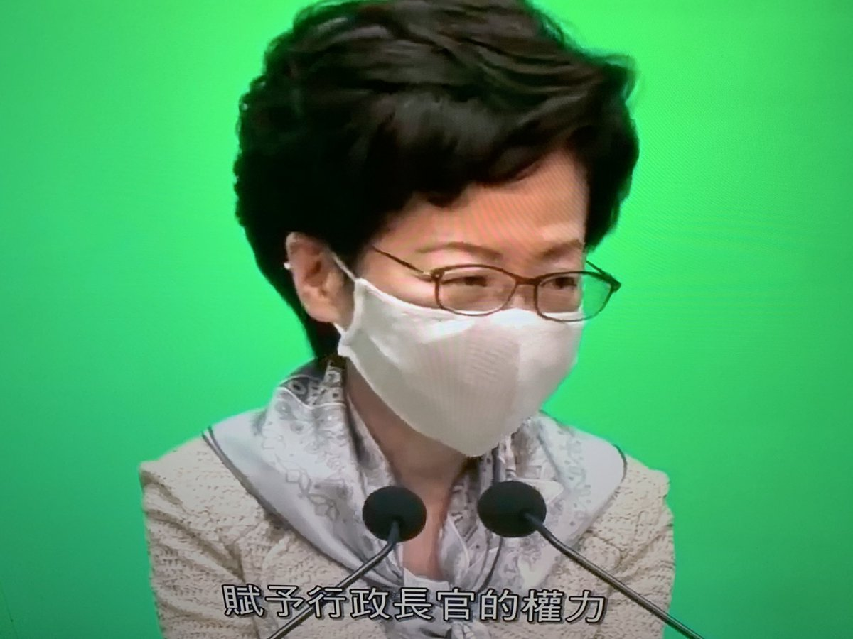 She did nothing, she just listened to Beijing, sold the soul of Hong Kong , #hk kids are smarter than you! pic.twitter.com/aFshJe8N5z