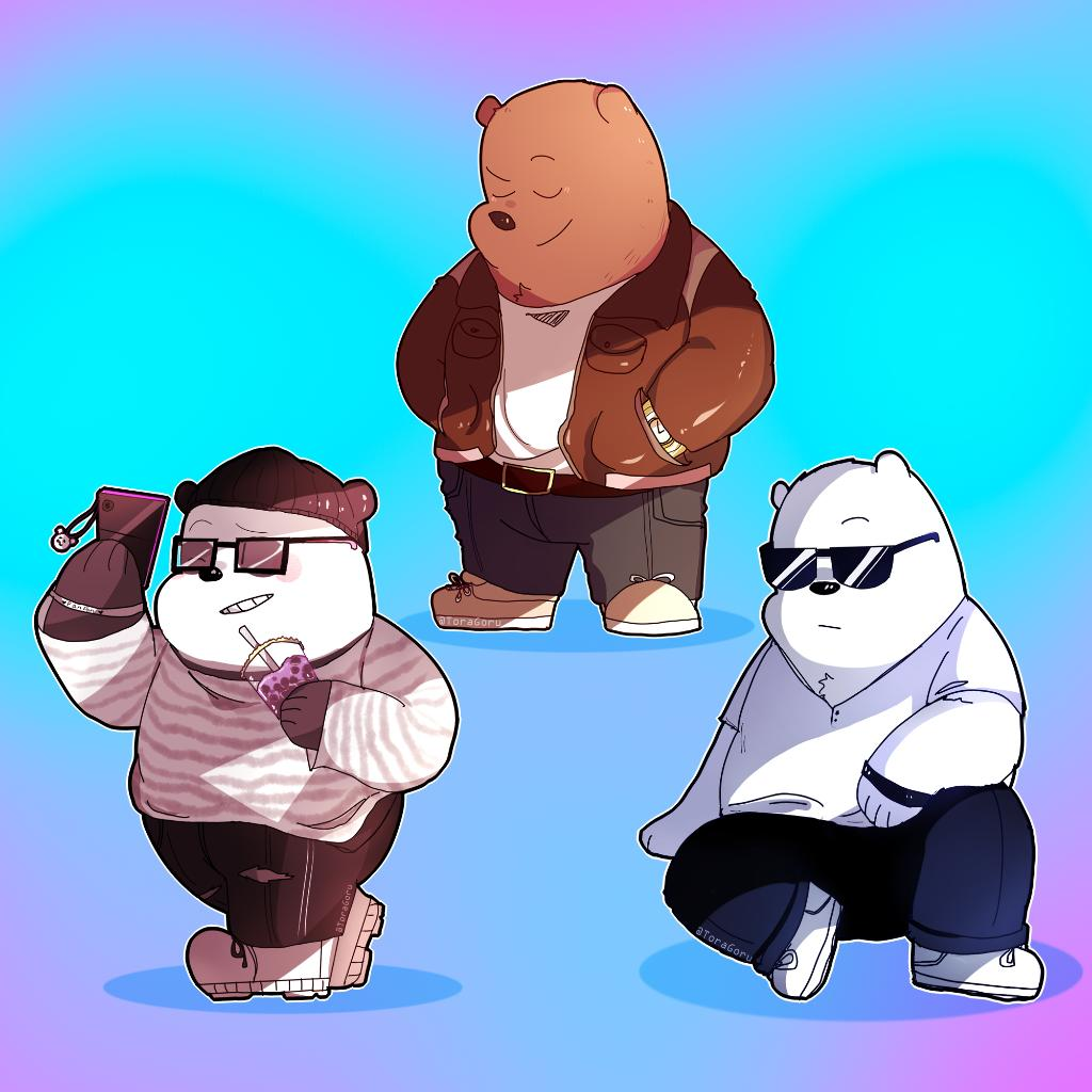 Cant stop the sauce 🐻🐼❄️Which Bear Bro has the best style?  🎨: togaroru  #webarebears #itscalledfashion #cartoonnetwork #nationalbrothersday
