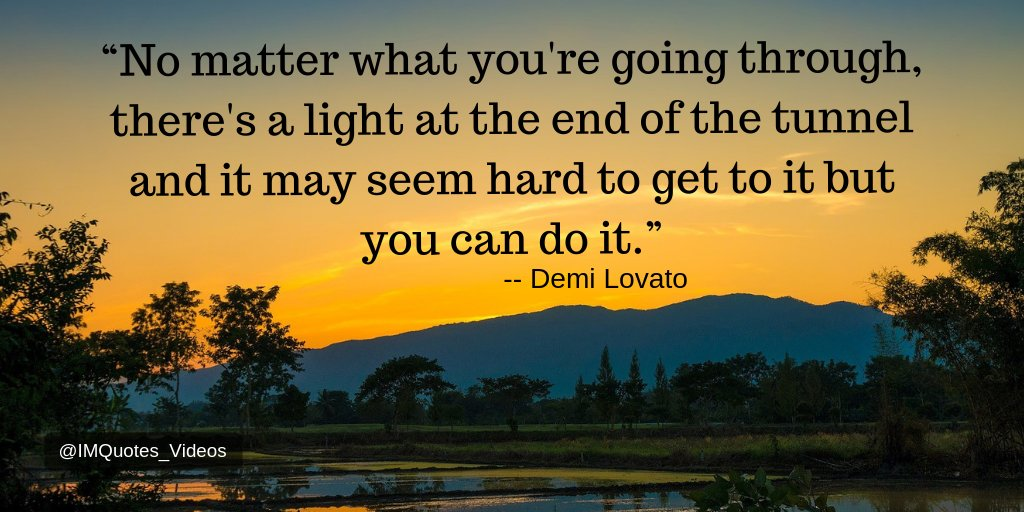 Stay positive and keep working to make it to that light at the end of the tunnel.  #Motivation pic.twitter.com/igQL7WcFxd