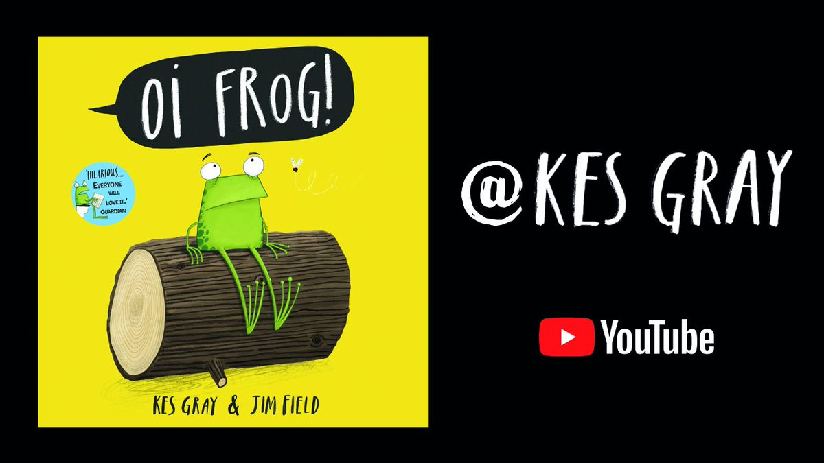 #KesGray is reading Oi Frog! and friends over on his YouTube channel! Tune in at fal.cn/38g1U