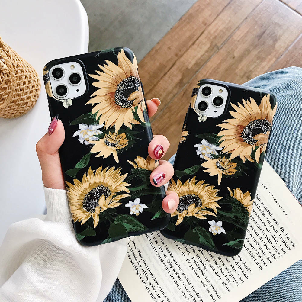 Sunflower soft Case For #iPhone11 Pro Max XR XS 6s 7 8 Plus X pic.twitter.com/7Hn8BsqYYd