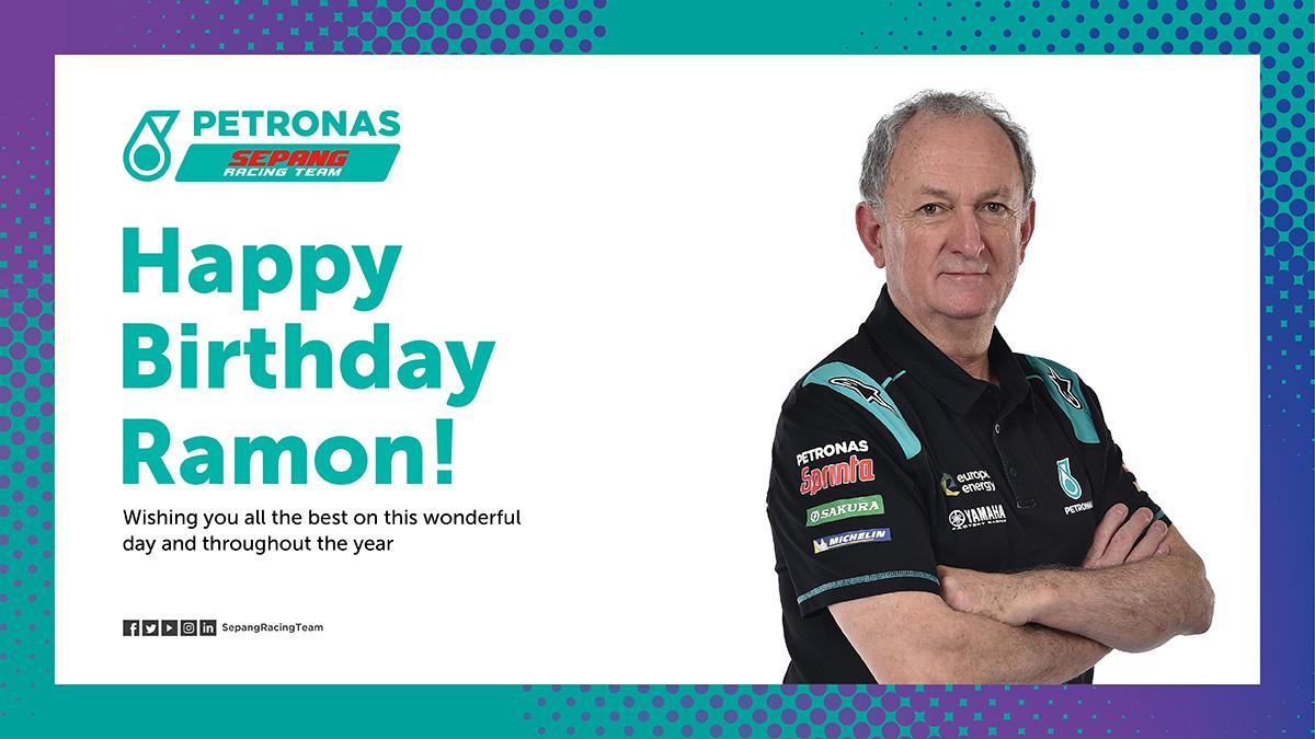 Happy Birthday to Franco's crew chief Ramon! Hope you enjoy your day! 🥳  #MotoGP | #PETRONASmotorsports | #SepangRacingTeam | https://t.co/TBi02FBiDM