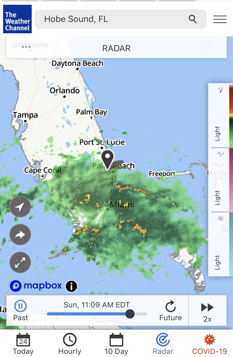 "Every golfer has looked at a radar screen like this and said ""I think it's gonna miss us."""