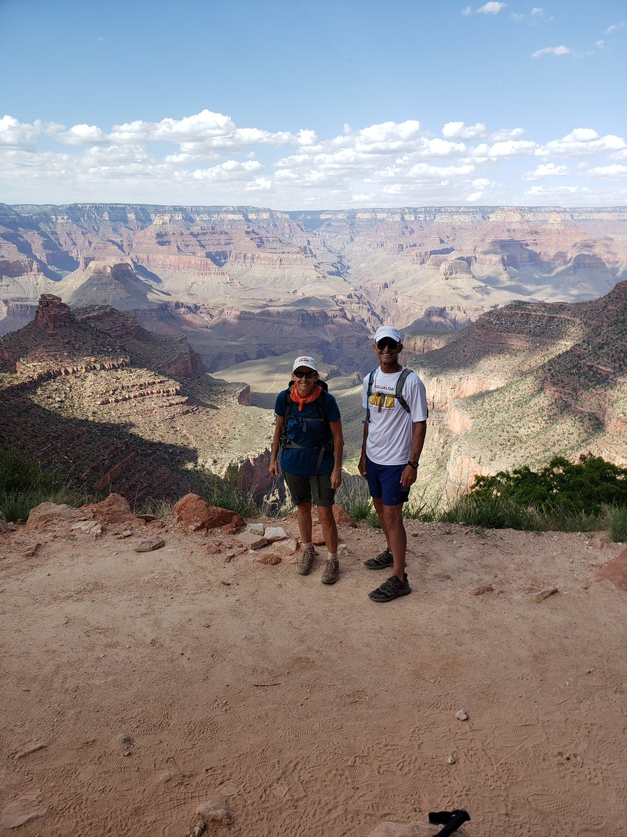 Yesterday, my friend Cal Baker and I completed the hike of a lifetime. We trekked over 18 miles through the Grand Canyon: down South Kaibab Trail to the Colorado river, over to the historic Phantom Ranch, and back up (and I mean UP!) the Bright Angel Trail. <br>http://pic.twitter.com/xzCDAsbM3D