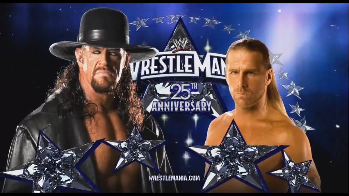 Greatest WrestleMania match ever.   Don't agree? Don't care. <br>http://pic.twitter.com/Z9ZUXudmD1
