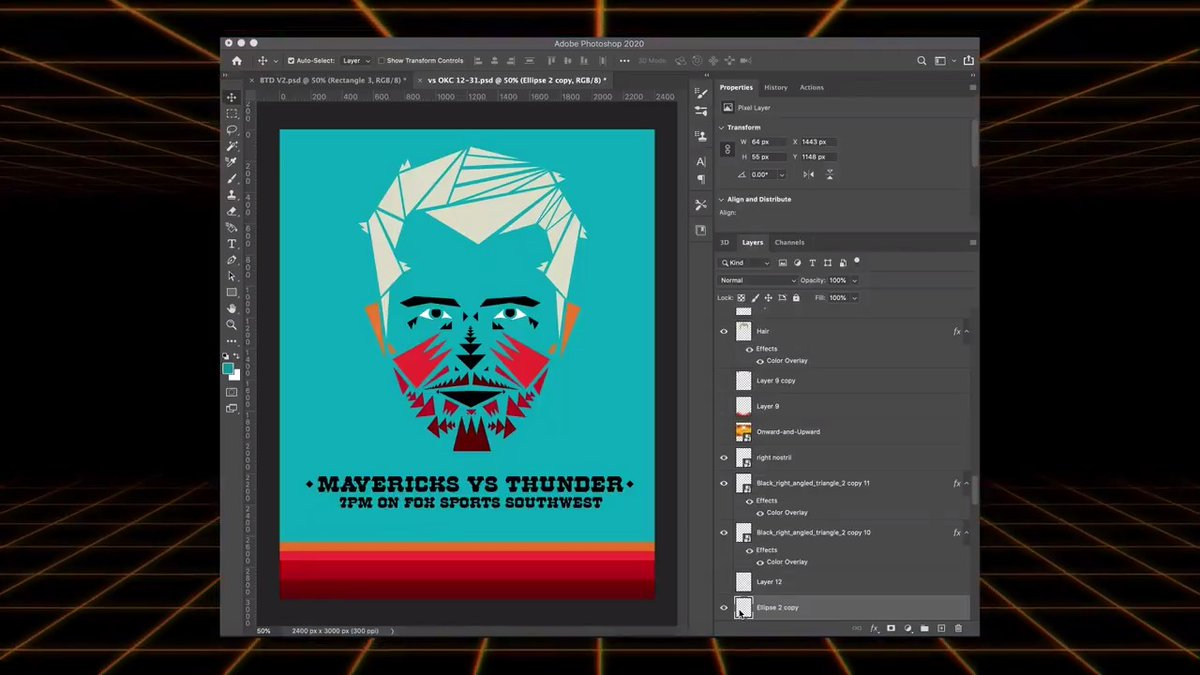 Behind The Design Vol 2: Pendleton Luka 🎨💻  🔊 Our Senior Director of Digital takes you through his creative process and what it takes to design our game day posters. First up, his favorite design of the season, modeled after traditional Native American patterns. #MFFL https://t.co/AeLJRGy1zN