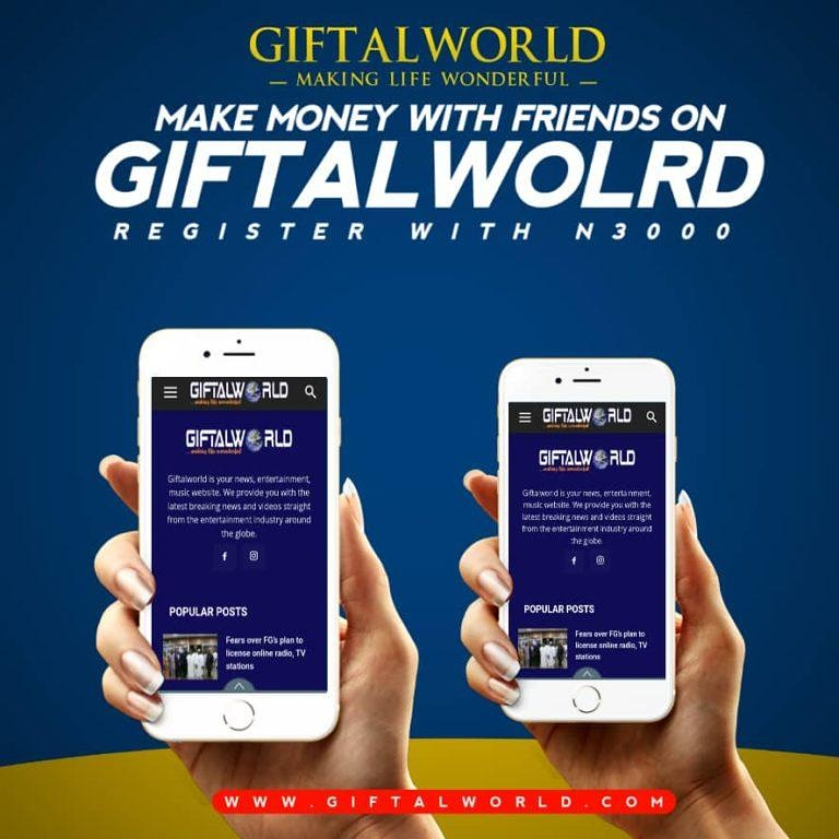 No other news Affiliate platform can beat this , we focus on sustainability, creativity and innovative ideas .  Trust me we are going 2years and more , despite the ups and downs we never give up , we keep pushing till this moment. Click https://www.giftalworld.com/register?id=394922…pic.twitter.com/nrLk1eJCq8