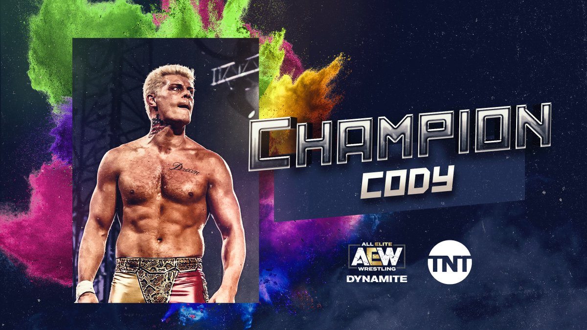 .@CodyRhodes is your first ever #TNTChampion  Must feel good to finally be able to call himself a champion<br>http://pic.twitter.com/h633XiBsik