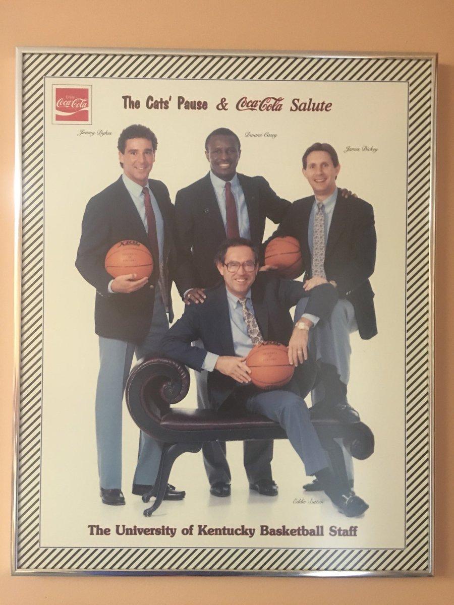 Great memories with Coach Sutton at @KentuckyMBB