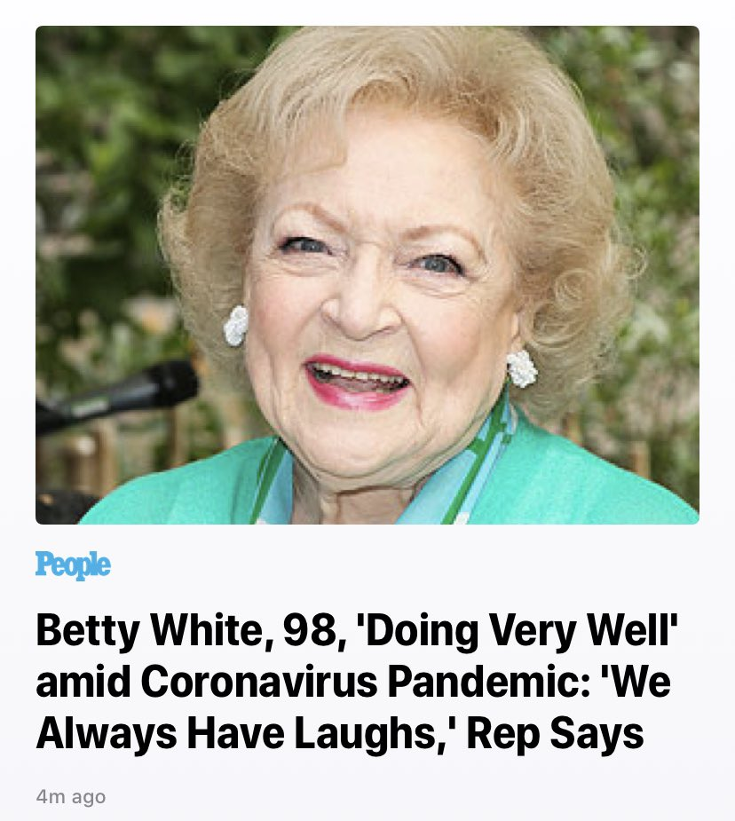 Thought nothing could surprise me more but this hit different. #bettywhite <br>http://pic.twitter.com/YTHWuBRsLp
