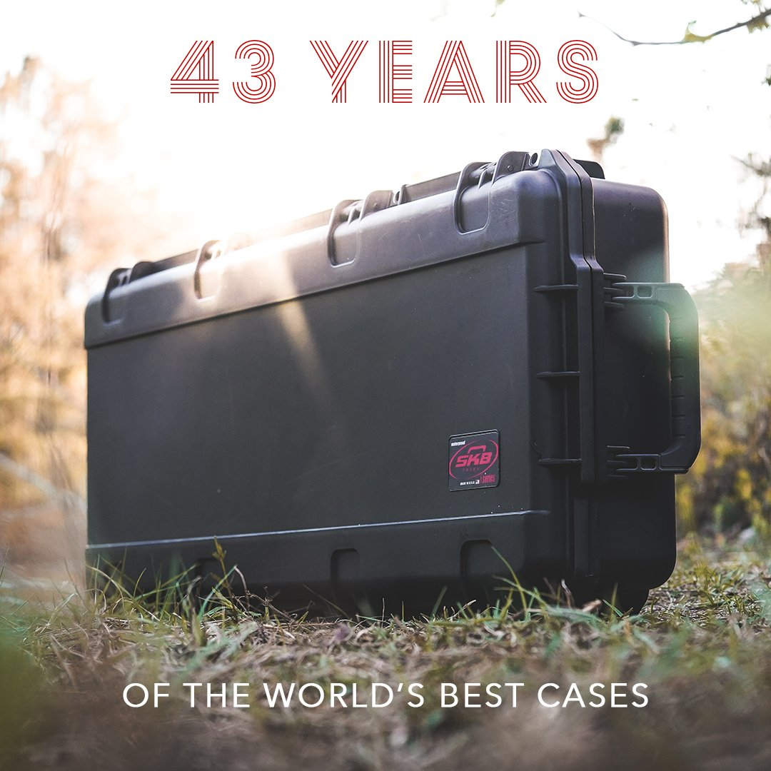 Today SKB celebrates 43 years of innovation that has made us the industry leader in transport solutions for sports, music, photography, aerospace + everything in between. Happy Birthday, SKB! #skbcases #happybirthday #gear #manufacturing #milspec #outdoor #photography #musician