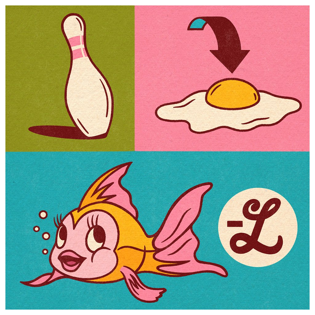What do you get when you cross a bowling pin, an egg, and a goldfish? A magical challenge! Can you figure out what Disney movie these images create when put together?