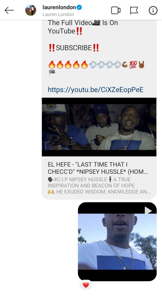 I DO THIS SHIT FOR THE PEOPLE WHO GET IT, #HussleAndMotivate S/O TO #LaurenLondon SHE LOVED IT  THE MF MARATHON CONTINUES  #RipNip pic.twitter.com/TpzZpkvyCM