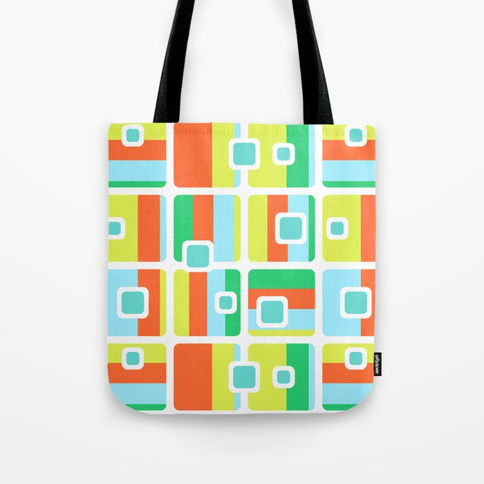 Summer colors. Fresh and colorful seamless pattern. Tote Bag. Society6 - Designed by artists, made by us, just for you.  @society6 #summer #pattern #colorful #geometric #abstract #GraphicDesign #fresh #fun #accent #Totebags #bag #decor