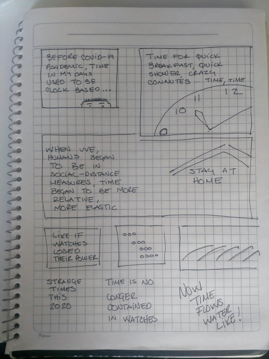 Time flows water-like in #COVID2019 time. #DrawingTogetherGM #GraphicMedicine<br>http://pic.twitter.com/EhZNzX0IYs