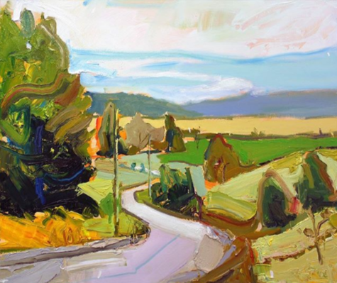 """""""Heading West"""", 61X75cm, oil on board. #paintingoftheday #artgallery #abstractexpressionistpic.twitter.com/ZiXVkbrlIW"""