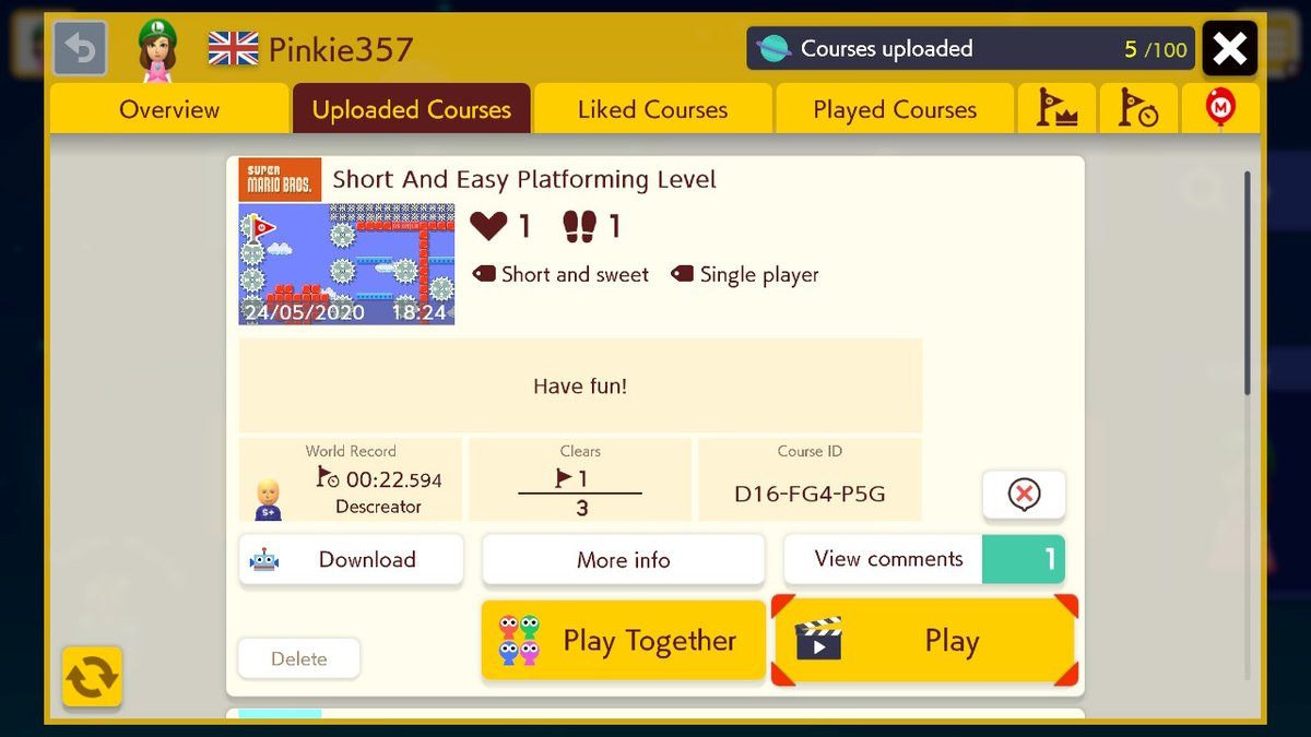 New level! #SuperMarioMaker2 #SMM2 #NintendoSwitch