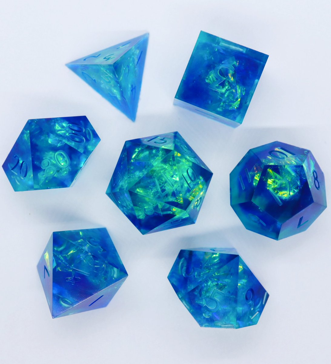 Cerulean Sea  my attempt at some #mermay-themed dice!  #dnd #dnd5e #dungeonsanddragons #ttrpg #dice<br>http://pic.twitter.com/DKz6OgPBYR